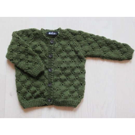 astas Clover cardigan autumn green-31
