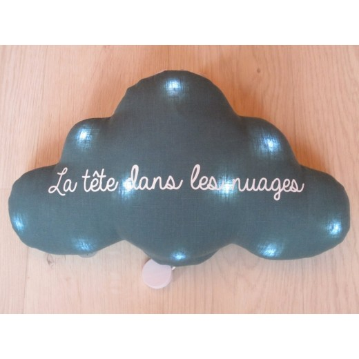 TOI-MÊME PARIS Cloud La tête dans les nuages night light/mucical teal green-35