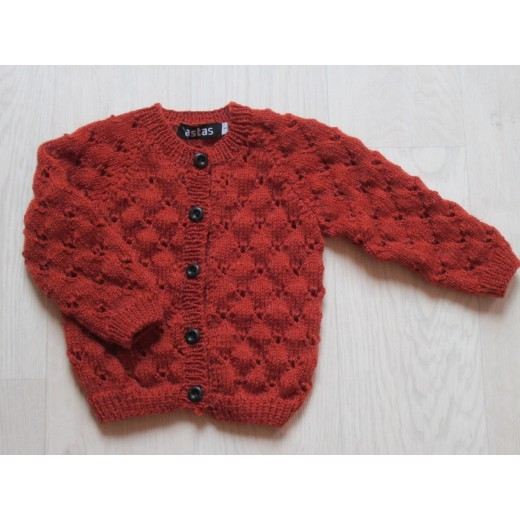 astas Clover cardigan light rust-31