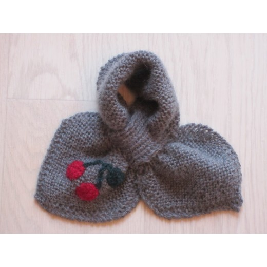 astas Cherry scarf grey/red cherry-31