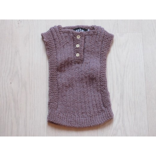 astas vest baby alpaca wool light lavender-01