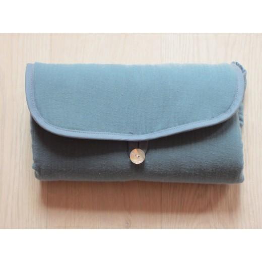 Pois.Plume Portable changing pad bleu petrol-33