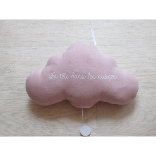 Oh La La Paris Cloud La tête dans les nuages night light/mucical rose-04