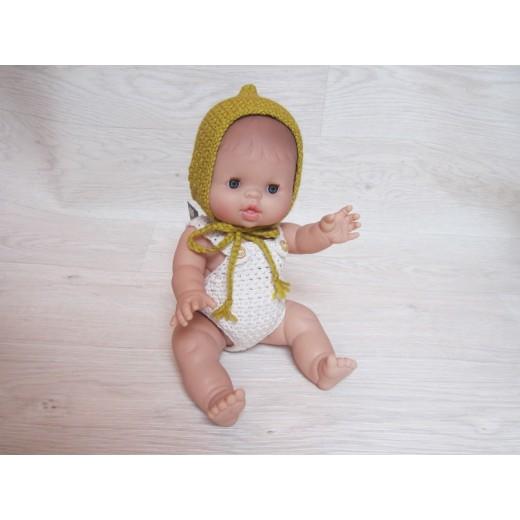 minikane Dukketøj Kyse spids mustard-025