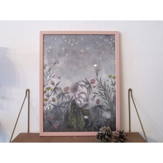 Kajsa Wallin Print Nattljus 30 x 40 cm med ramme-35
