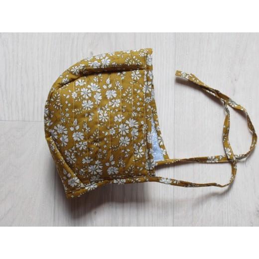 astas Bonnet quiltet mustard/light blue liberty fabric-32