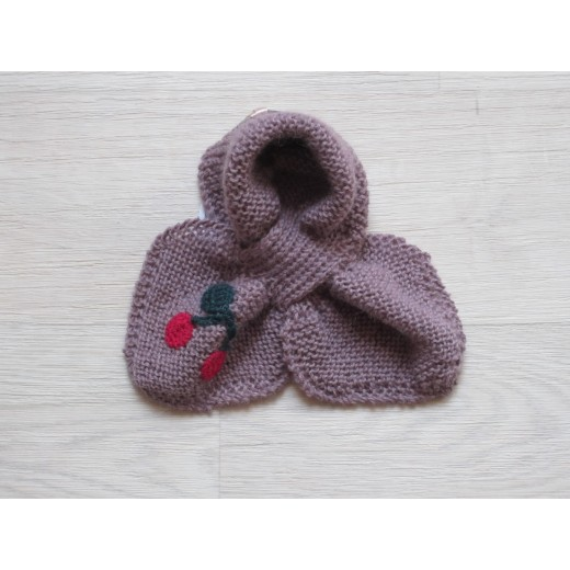 astas Cherry scarf old rose/red cherry-32