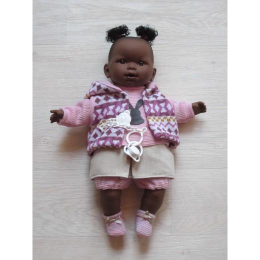Llorens mørk dukke 42 cm-34