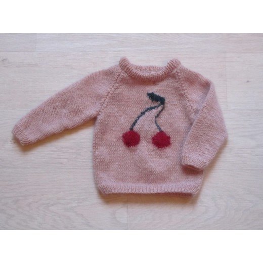 astas Cherry Sweater candy floss pink/ red cherry-33