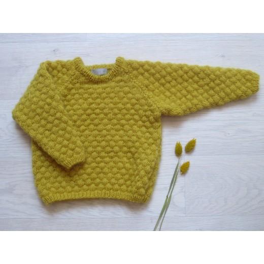 Astas Sweater Fluffy Bubble mustard-33