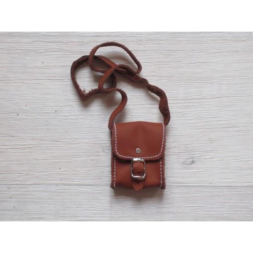 AstasDukketilbehrTaskeAflanglderbrun6x5cm-34