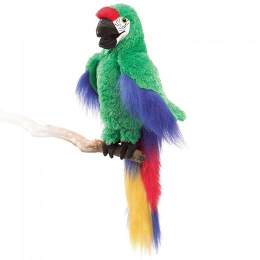 Folkmanis Green Macaw papegøje-32