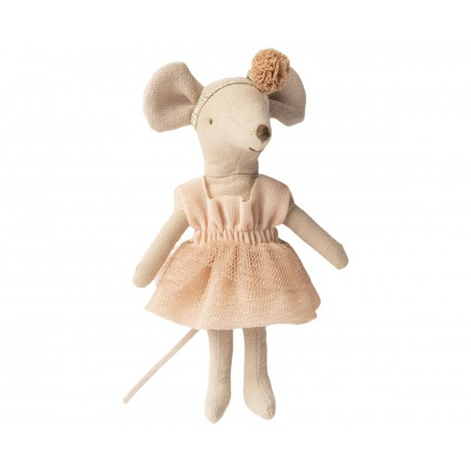 maileg Dance Mouse in Day Bed little sister-09