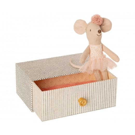 maileg Dance Mouse in Day Bed little sister-39