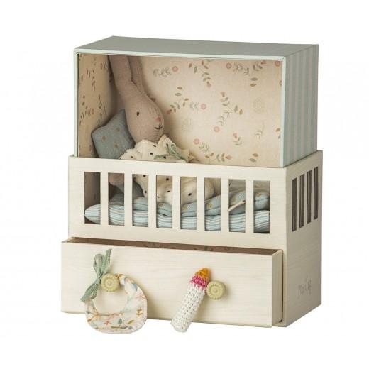 maileg Baby Room w/micro rabbit-311