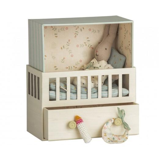 maileg Baby Room w/micro rabbit-011