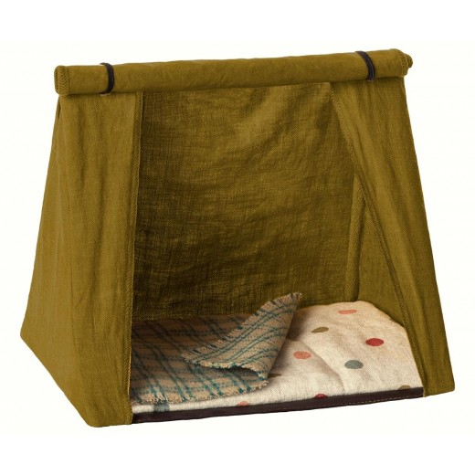 maileg Mouse Happy Camping Tent grøn-32