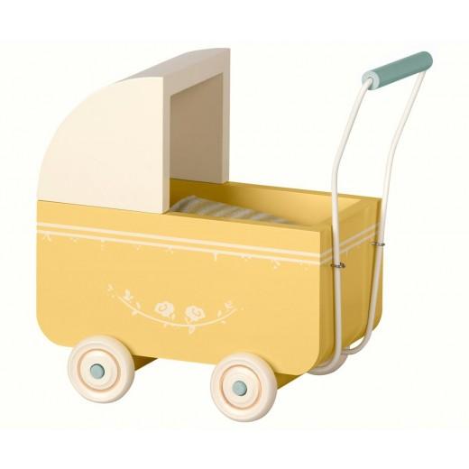 maileg Micro Dukkevogn yellow-34