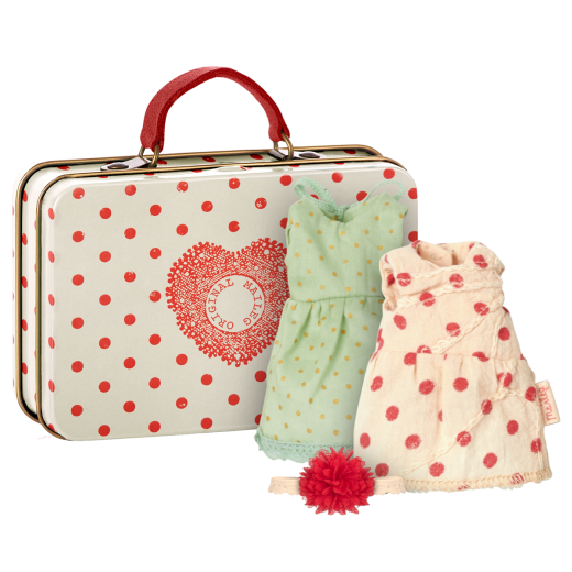 maileg Suitcase w/2 sets of clothes micro-01
