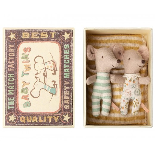 maileg Mus Tvillinger i box-33