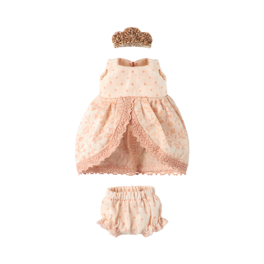 maileg Micro and Mouse Princess dress rose-02