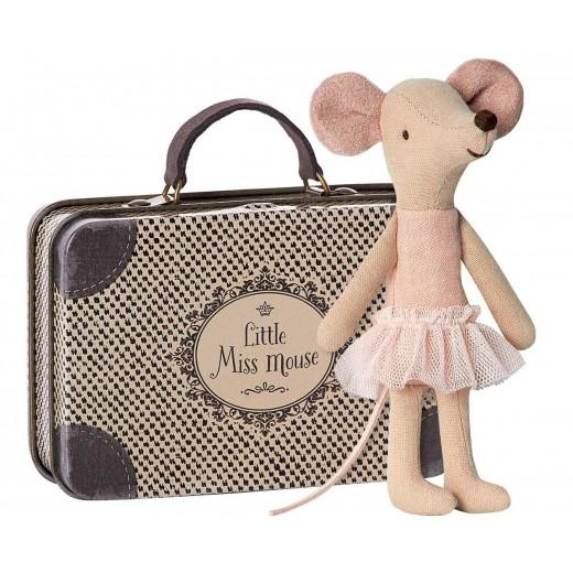 maileg Ballarina Mus i kuffert-34