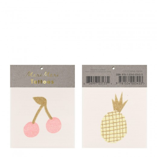 Meri Meri Tatoos Cherry and Pineapple small-31