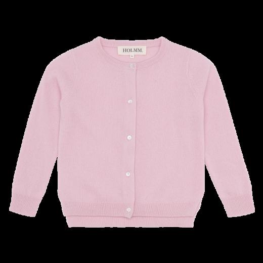 HOLMM COPENHAGEN Cardigan Molly 100% cashmere Blancmange soft pink-33