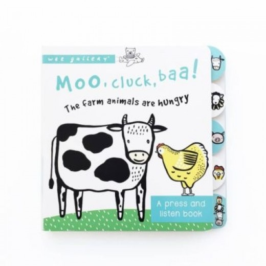 wee gallery Sound Book Moo, Cluck, Baa! The farm animals are hungry-32
