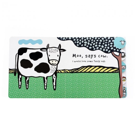 wee gallery Sound Book Moo, Cluck, Baa! The farm animals are hungry-02