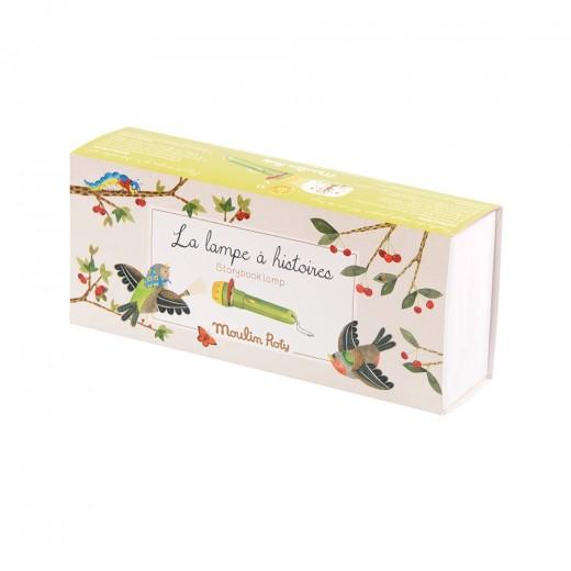 Moulin Roty lommelygte, skyggespil fugle, larven samt 4 årstider-310