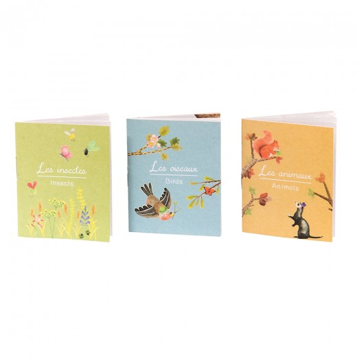 Moulin Roty lommelygte, skyggespil fugle, larven samt 4 årstider-010