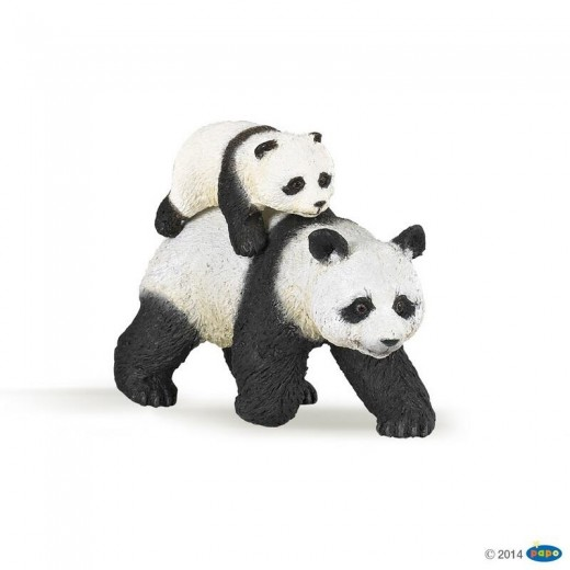 papo figur Panda and Baby Panda-316