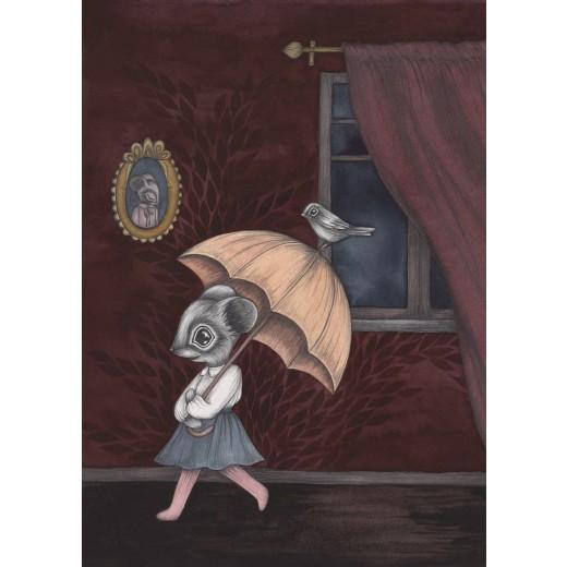 Kajsa Wallin Print The Umbrella Adventure A4-09
