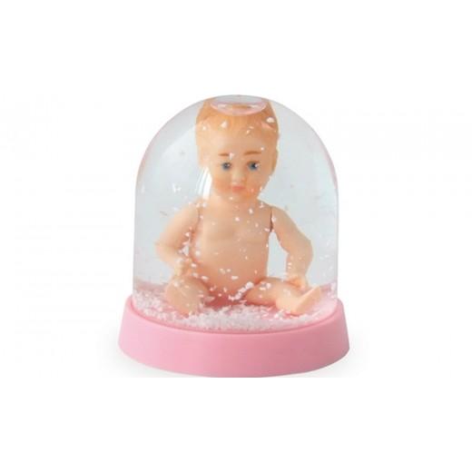 Petitcollin mini snekugle med baby lyserød-31
