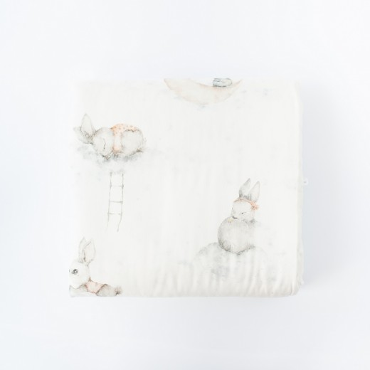 Petit COCO Swaddle m/kanin douce lyserød 120 x 120 cm-33