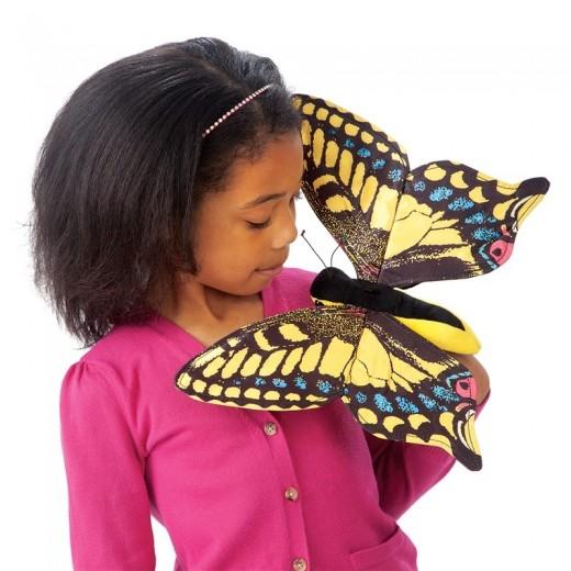 Folkmanis Swallowtail Butterfly fingerdukke-01