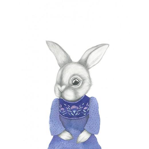 Kajsa Wallin Print Cecilia the rabbit 30 x 40 cm-31