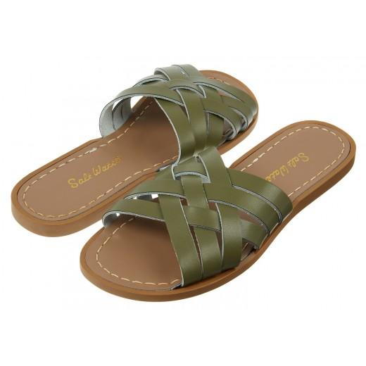 Salt-Water Retro Slide sandal olive adult-329