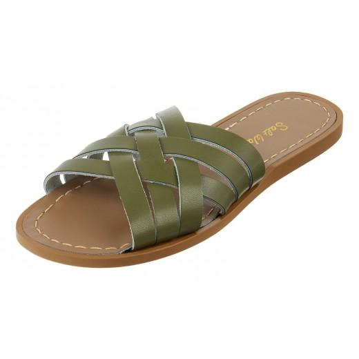 Salt-Water Retro Slide sandal olive adult-029