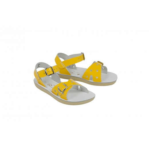 Salt-Water Sweetheart sandal shiny yellow-37