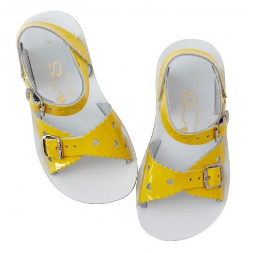 Salt-Water Sweetheart sandal shiny yellow-07