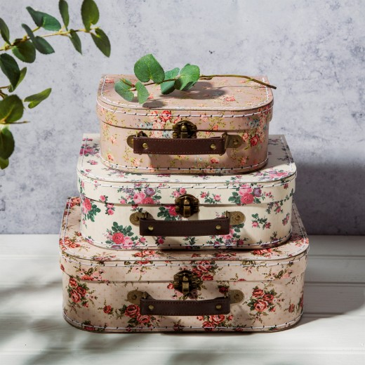 sass and belle Vintage Rose Suitcases 3 stk.-313