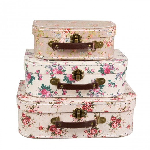sass and belle Vintage Rose Suitcases 3 stk.-013