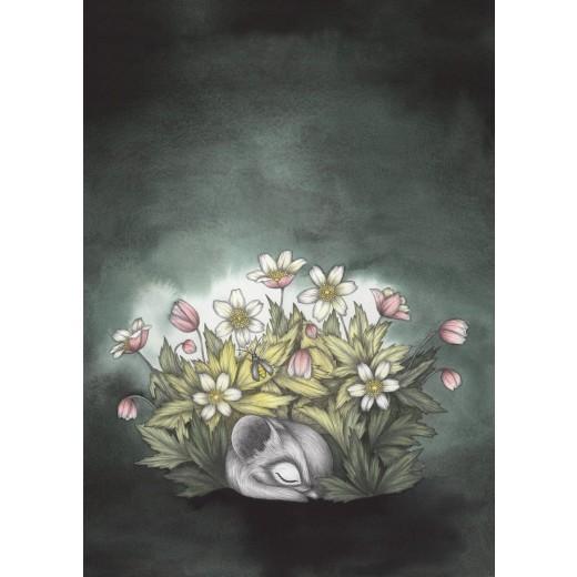 Kajsa Wallin Print Sleepy Anemones A4-06