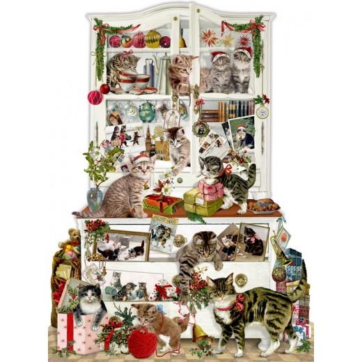 Spiegelburg Julekalender Mischievous Christmas Cats vintage design-31