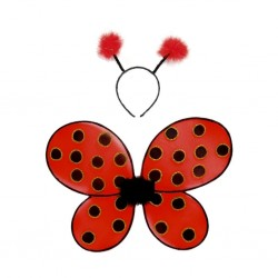 Great Pretenders Udklædning Vinger Ladybug Wings/ Headband-20