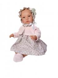 Asi dukke Leonora rosa kjole m/rosa cardigan 46 cm-20