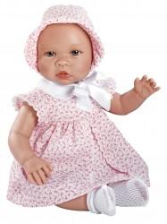 Asi dukke Leonora rosa kjole m/ blomster 46 cm-20