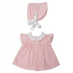 Asi dukketøj Leonora kjole blomstret m/kyse 46 cm-20